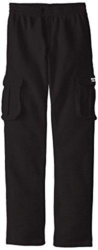 STX Big Boys' Fleece Pull On Sport Pant, TF27-Black Cargo, 10/12