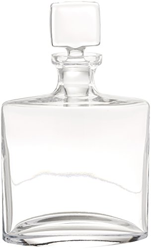Badash Lead Crystal Decanter - Badash Whitney Mouth Blown 28-Ounce Lead Free Crystal Decanter, 10-Inch