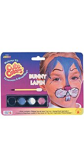 Rubie's Costume Co. Cutecolor Bunny Makeup Kit Costume, One Size, -