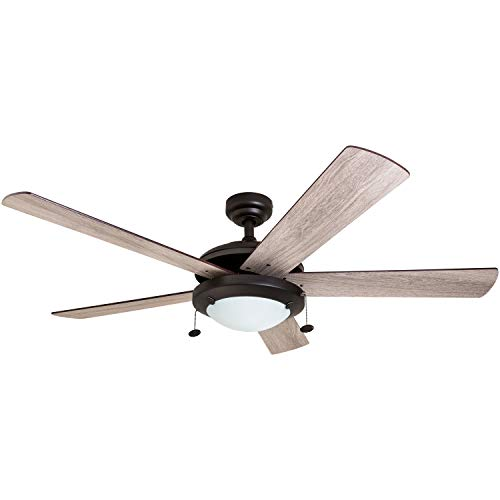 - Prominence Home 80099-01 Bolivar LED Ceiling Fan, Modern Farmhouse, 52