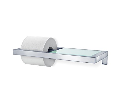 Blomus Stainless Steel Shelf (Blomus 68831 Wall Mounted Toilet Paper Holder)