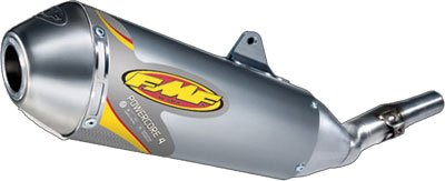 FMF 02-19 Kawasaki KLX110 Powercore 4 Complete Exhaust with Stainless Hi-Flo Header - Race (Aluminum) by FMF
