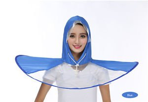 29e4cb42d4268 Confidence UFO Waterproof Hands Free Umbrella Rain Hat Headwear Cap Raincoat  for Outdoor