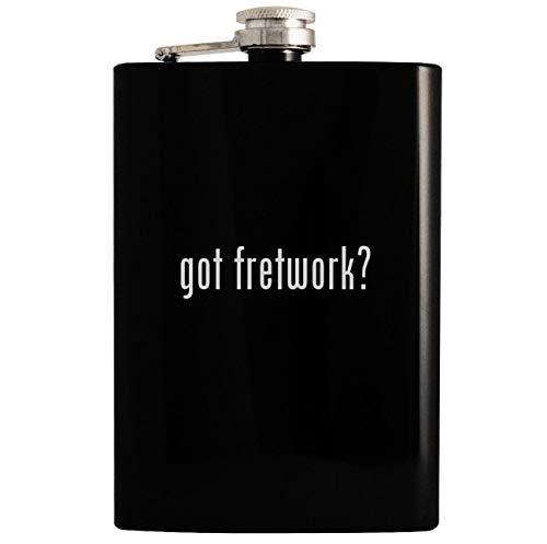 Black Fretwork Bench - got fretwork? - 8oz Hip Drinking Alcohol Flask, Black