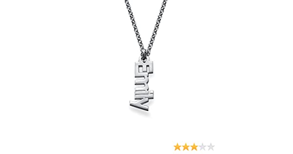 Yandam Personalized Name Necklace Vertical Infinite Name Custom Necklace