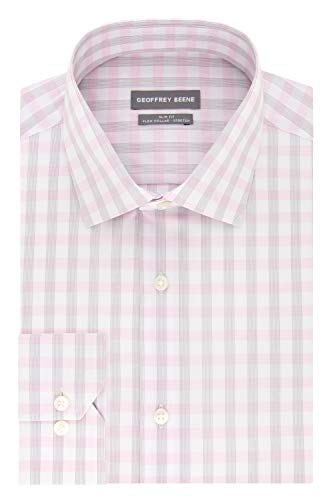 - Geoffrey Beene Men's Stretch Check, Blush, 16
