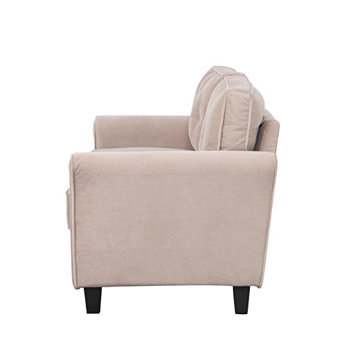 Classic Living Room Furniture Set - Sofa, Love Seat, Accent Chair (Hazelnut)