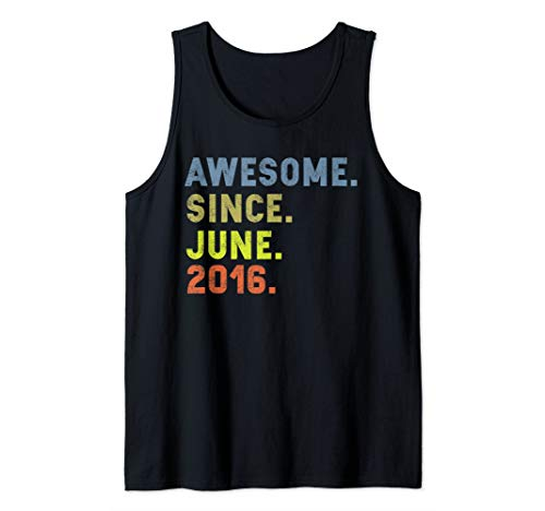 Awesome Since June 2016 Vintage 3rd Birthday gift girls boys Tank Top