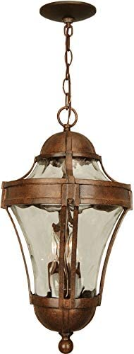 Craftmade Z4221-AG Parish Outdoor Ceiling Pendant Lighting, 3-Light, 180 Watts, Aged Bronze Textured 11 W x 22 H