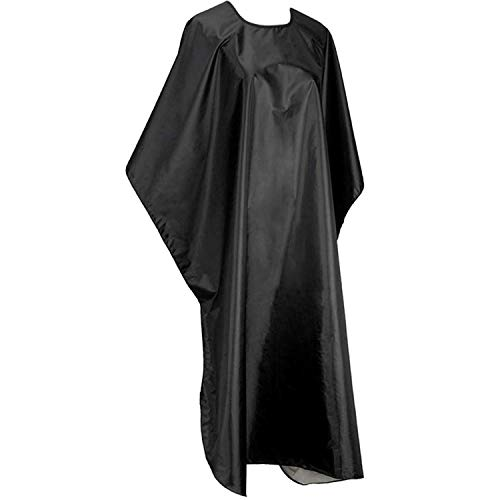 Vcddom Professional Barber Haircut Cape Hair Coloring Cloak Dye Beard Apron Waterproof Hairdressing Smock Cloth Cover Barbers Cape (Black)