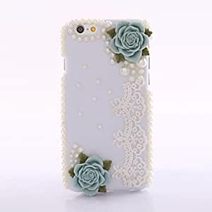 Fashion Blue Rose Shell Back Cover Case for iphone 6