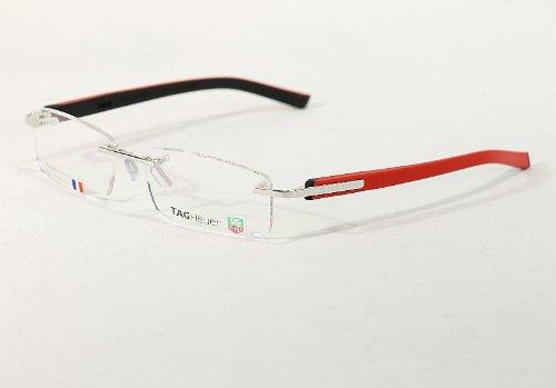 Tag Heuer TRENDS 8108 Eyeglasses 005 Polished Red/Black - For Eyeglass Men Trends Frames