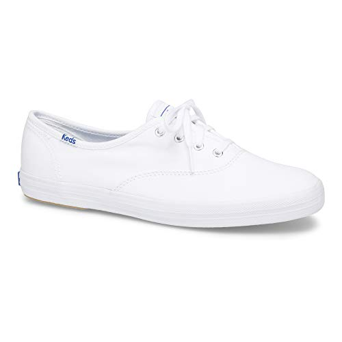 Keds Women's Champion Original Canvas Lace-Up Sneaker, White, 5.5 XW US