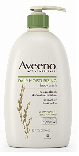 Aveeno Active Naturals Body Wash - Daily Moisturizing - Net Wt. 33 FL OZ (975 mL) Per Bottle - Pack of 2 Bottles