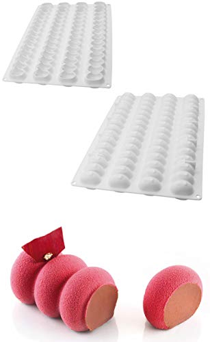 VolksRose Silicone Cake Molds 1 Pcs Premium Baking Mold Ice Cube Trays for Making Cookie, Mousse, Jelly, Muffin Pan, Pretzels, Chocolate Truffle, Candy, Gumdrop, Homemade Biscuits Mold and More #S9 ()