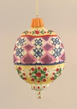 FLORAL TOP & BOTTOM ORNAMENT -