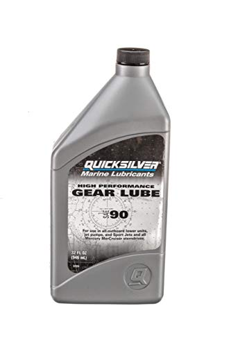 Quicksilver 858064Q01 High Performance SAE 90 Gear Lube for Mercury Outboards and MerCruiser Sterndrives, 32 oz