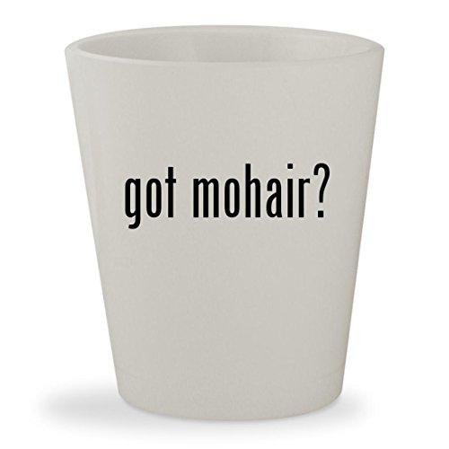got mohair? - White Ceramic 1.5oz Shot Glass - Kid Mohair Throw