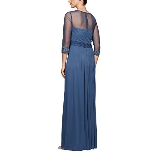Long and Regular line Dress Sleeves Violet Women's Petite Sizes Alex with Evenings A HvEcUq