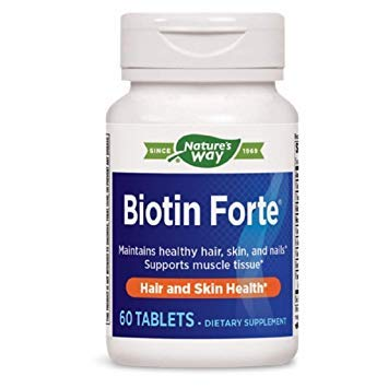 Nature's Way Biotin Forte Extra Strength-5mg (Without Zinc), Pack of 2