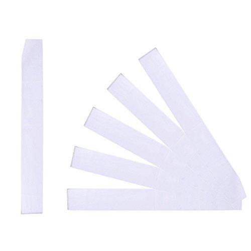 Teemico 6 Pieces Blank Satin Sash Plain Sash for Wedding Party Decoration and DIY Accessory,10cm by 78cm
