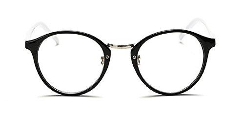 Embryform Tendance des sauvages lunettes monture ronde Noir blanc