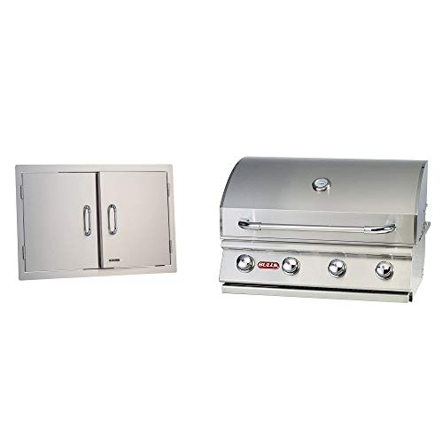 Bull Outdoor Products Stainless Steel Patio Grill Island Double Access DoorsBull Outdoor Products Natural Gas Outlaw Drop-in Steel Barbecue BBQ Grill Head