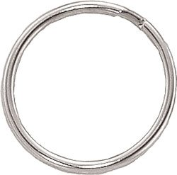 100 Pack 1'' (25mm) Nickel Plated Steel - Heat Treated - Round Edged Split Rings/Key Rings