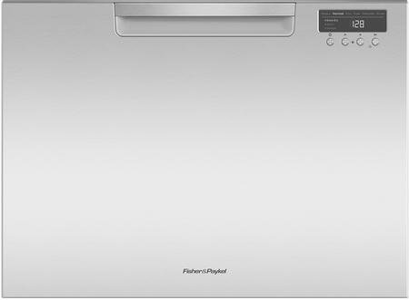 "Fisher Paykel DD24SCTX9 24"" Tall Single Drawer DishDrawer Dishwasher with 7 Place Settings 2 Cutlery Baskets and Recessed Handle in Stainless"