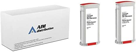 787-12PK - Generic AIM Compatible Replacement for Pitney Bowes Connect+ 1000//2000//3000 Red Postage Meter Inkjet 2//PK-45000 Impressions