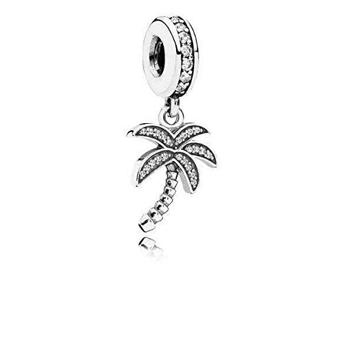 Used, Pandora Sparkling Palm Tree Dangle Charm, Clear CZ for sale  Delivered anywhere in USA