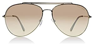 Tom Ford FT497 28Z Shiny Rose Gold Indiana Aviator Sunglasses Lens Category 2 L