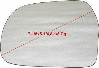 UPC 723651348047, 99-04 CHEVY CHEVROLET TRACKER MIRROR GLASS LH (DRIVER SIDE) SUV, (7-1/8 X 5-1/4, 8-1/8 Dg.) (1999 99 2000 00 2001 01 2002 02 2003 03 2004 04) C471122 8476067DA0