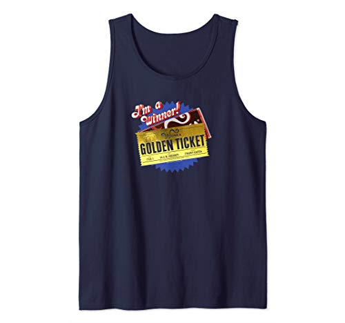 Charlie and the Chocolate Factory Golden Ticket Tank Top (Charlie And The Chocolate Factory Chapter Questions)