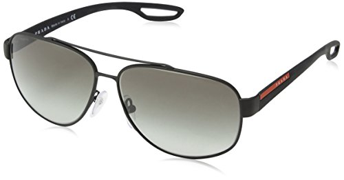 Prada Sport 58Qs DG00A7 Matt Black 58Qs Aviator Sunglasses Lens Category 2 - Aviator Womens Prada Sunglasses