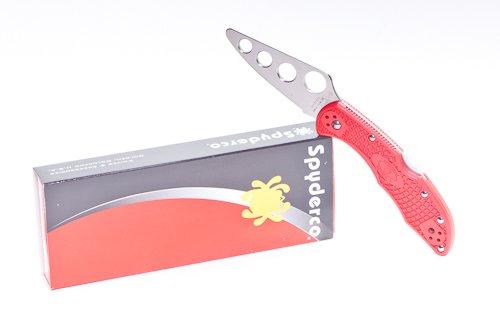 Spyderco Delica4 Red FRN Trainer Folding Knife C11TR