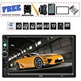 TDYJWELL 7 inch Double Din Touch Screen Car Stereo Upgrade The Latest Version MP5/4/3 Player FM Radio Video  Support Backup Rear-View Camera  Mirror Link (Stereo Car Din Double Android)