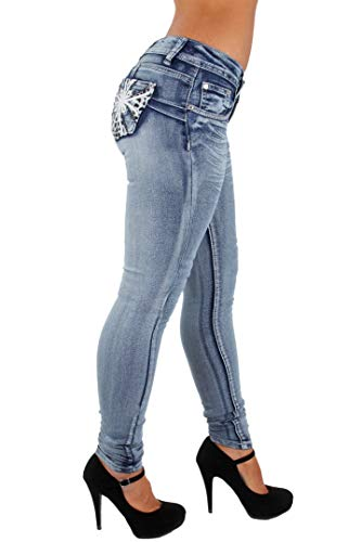 Colombian Design, Butt Lift, Levanta Cola, Skinny Jeans in Washed Blue Size 5
