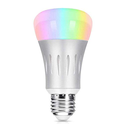 Wi-Fi Smart LED Light Bulb, Tastech [Upgraded Version] Dimmable Multicolored Party Lights Bulb, No Hub Required, Compatible with Alexa and Google Home -