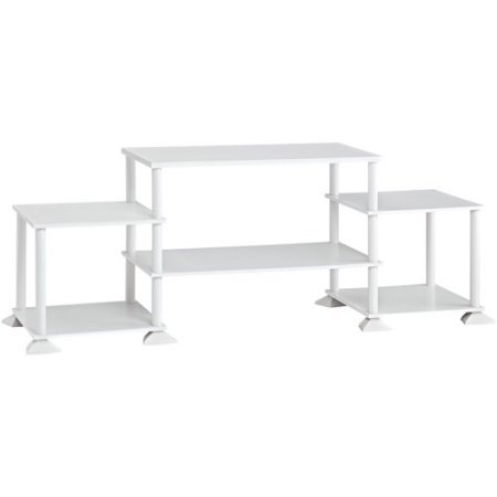 Mainstay` No-Tool Assembly 3-Cube Entertainment Center for TVs up to 40 (White)