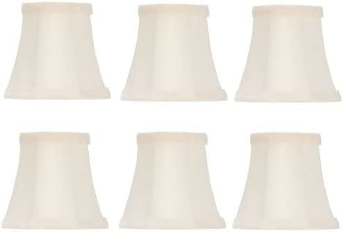 Upgradelights Set of Six – 5 Inch Off White Bell Chandelier Lamp Shades 2.5x5x4