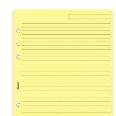 Repuesto de Agenda sin Fecha Filofax Todos los Tamaños y Variantes para Agendas Filofax - A5 - Papel para Notas Amarillo Rayado