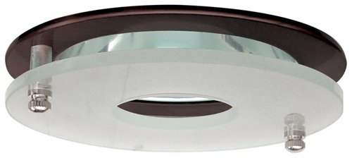 """Elco Lighting EL1426BZ 4"""" Low Voltage Adjustable Clear Reflector with Suspended Frosted Glass"""