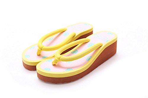 mhgao Ladies Casual zapatillas rosa patrón de flores para una cómoda zapatillas de casa, 7, medium 1