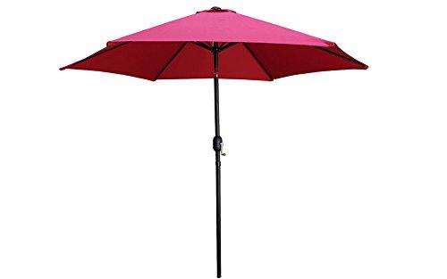 ltl-shop-9-aluminum-outdoor-beach-patio-umbrella-crank-tilt-sunshade-cover-yard-burgundy