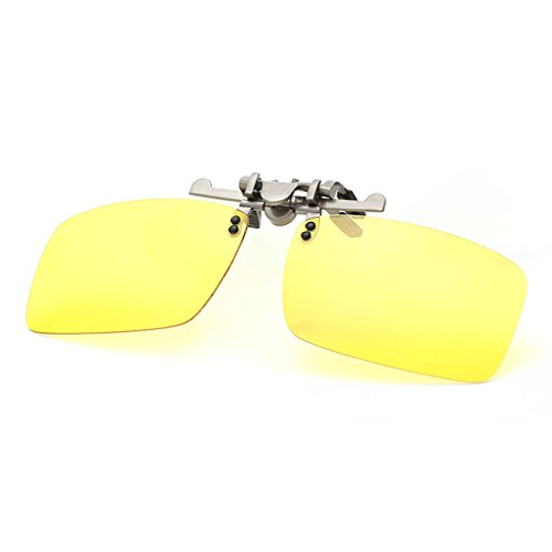 A-Royal Square Myopia Polarized Clip-on Flip up Driving Fishing Traveling Sunglasses - Eyeglasses Nyc Affordable