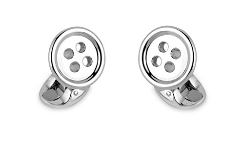 Deakin & Francis Sterling Silver Button Cufflinks by Deakin and Francis