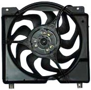 TYC 620560 Jeep Cherokee Replacement Radiator/Condenser Cooling Fan Assembly ()