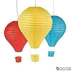 Hot Air Balloon Paper Lantern Set - Party Decorations & Paper Lanterns