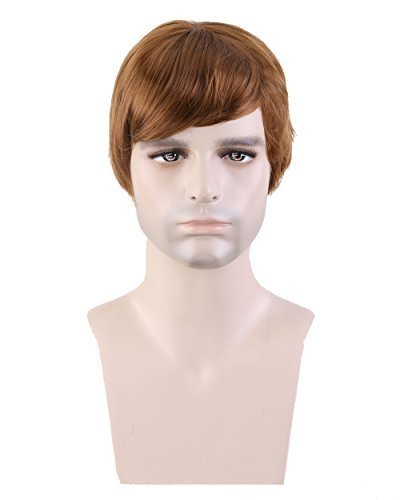 [Fashion Men's Short Layered Wig (Model: Jf010471) (Light Brown) by Cool2day] (Wigs For Mens)